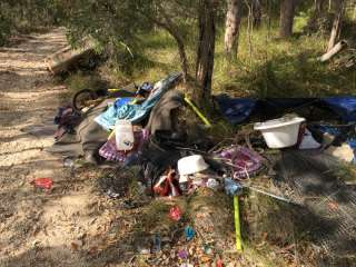 Rubbish tipped in the Cove