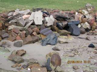 An example of sea wall failure