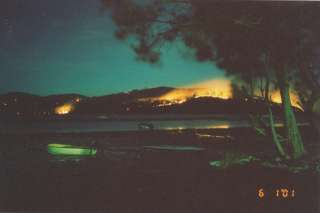 Bushfire near Bundabah in 2001