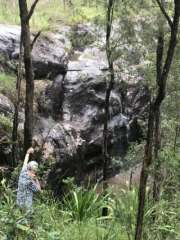 Waterfall with person for scale