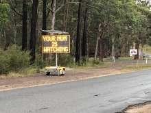 Traffic advice sign